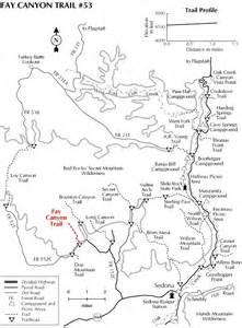 arizona hiking trail maps fay arch trail 53 hiking arizona