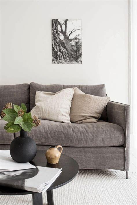 neutral sofa warm simple home tour house of valentina living