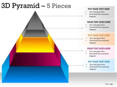 Pin Shape Template Pyramid On Pinterest Pyramid Ppt Template Free