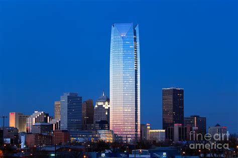 Home Decor Oklahoma City Oklahoma City Skyline At Dusk Photograph By Bill Cobb