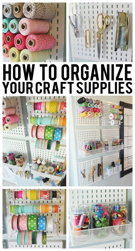 how to organize how to organize your craft supplies eighteen25