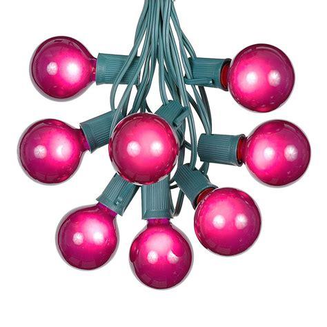 100 Purple G50 Globe String Light Set On Green Wire 100 String Lights