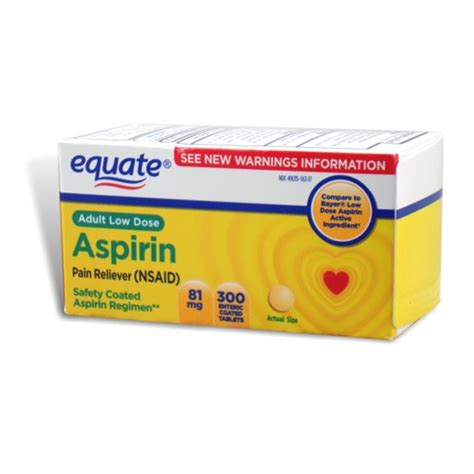 aspirin dosage aspirin 81 mg low dose 300 tablets equate ebay