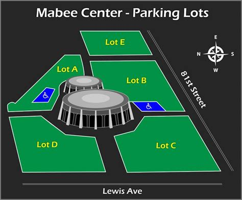 mabee center seating directions parking mabee center official