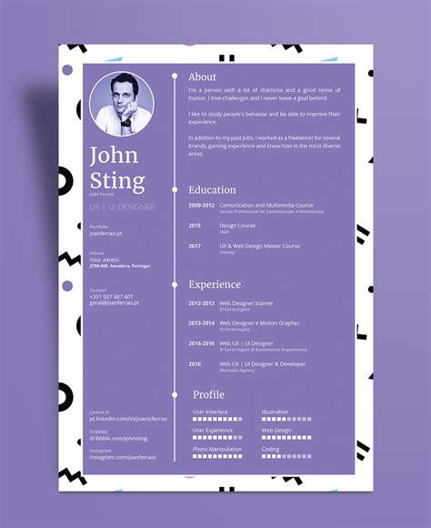simple minimalist resume cv design template ai file resume