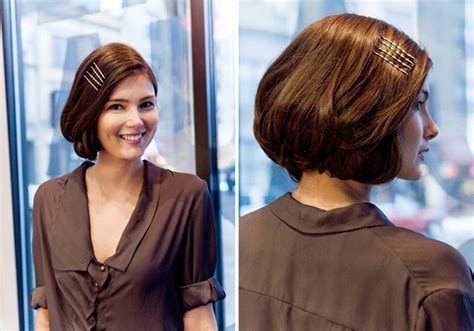 how to make bob haircut look piecy easy faux bob tutorials fashionisers