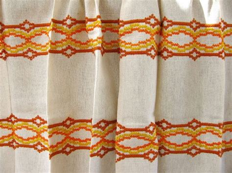 1970s curtains vintage curtains weaved 1970 s curtains with fringe never