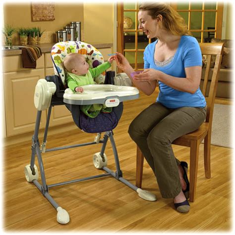 baby high chair swing combo new fisher price 2 in 1 baby infant swing to high chair