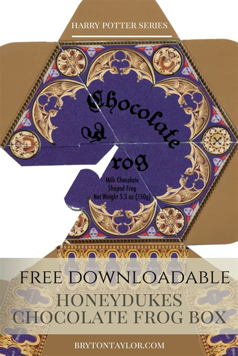 chocolate frog box template printable chocolate frog box template harry potter hogwarts dinner