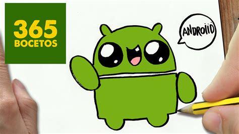 imagenes de amor animadas para android como dibujar logo android kawaii paso a paso dibujos