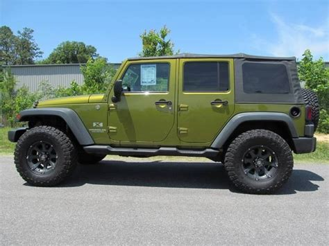 Green Four Door Jeep 2007 Jeep Wrangler Unlimited X