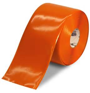 Floor Tape by Mighty Line Orange Solid Color Floor Tape