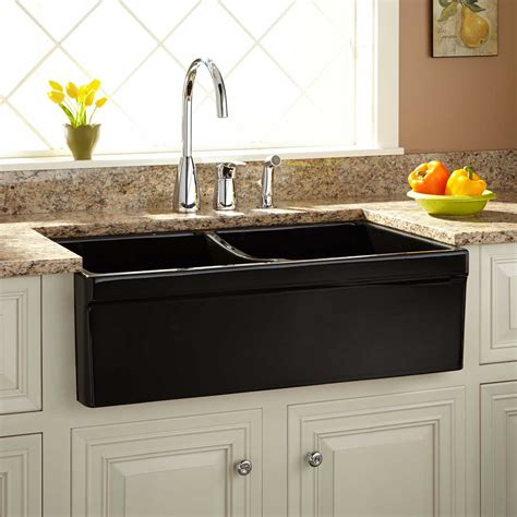 33 quot fiammetta double bowl fireclay farmhouse sink with