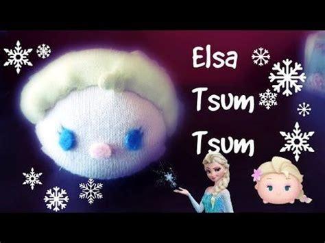 elsa sock snowman elsa tsum tsum from frozen sock plushie tutorial sock fabric plushie tutorials