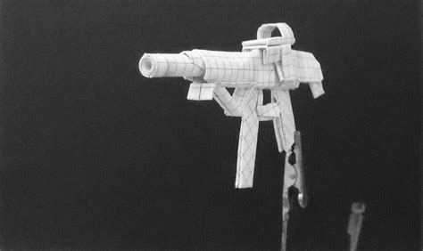 Origami Machine Gun - origami guns assault rifle by solidmark on deviantart