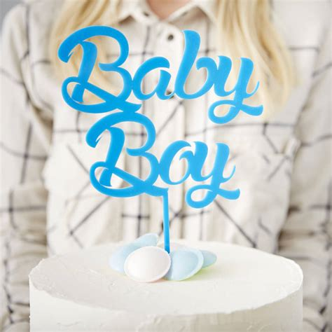 Cake Toppers For Baby Shower Cakes by Baby Boy Baby Shower Cake Topper By
