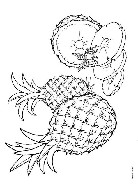 pineapple coloring page pineapple coloring pages and print pineapple