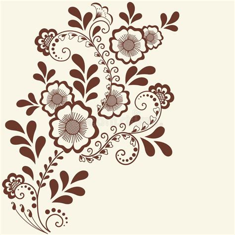 indian henna tattoo stickers vector illustration of mehndi ornament traditional indian