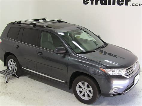 thule roof rack for 2012 highlander by toyota etrailer