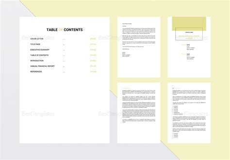 Annual Report Templates For Mac Annual Report Template In Word Docs Apple Pages