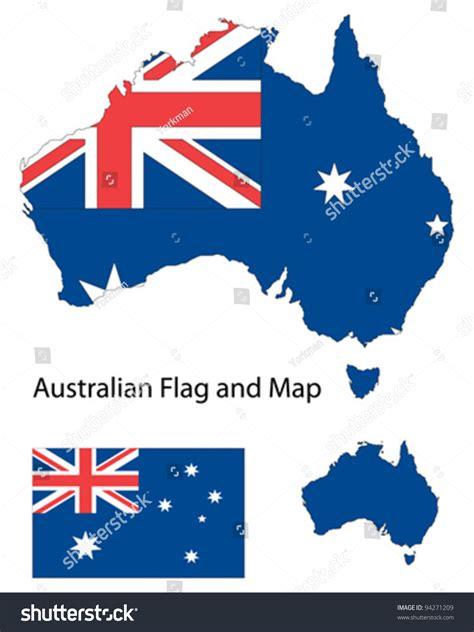Email Address Search Australia Outline Shape Of Australia Filled With Australian Flag Stock Vector Illustration