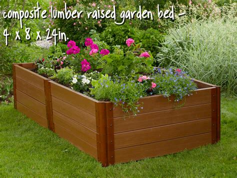Plastic Raised Planter Boxes by Raised Planter Box No Rot Raised Garden Windowbox
