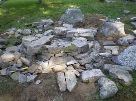 Maine Stonework Masonry Hardscaping Perennial Stone Firepit Stones