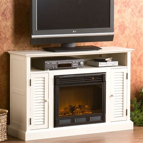 antebellum electric fireplace media cabinet in antique