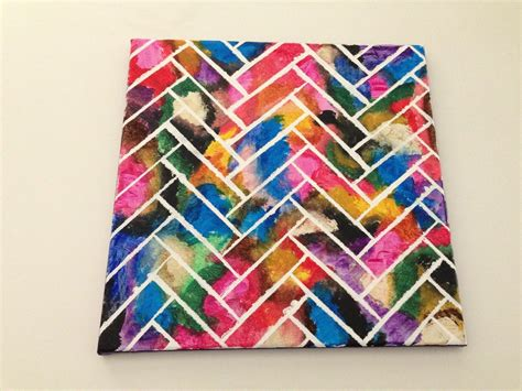pattern canvas art wall art herringbone painting 183 how to paint a painting