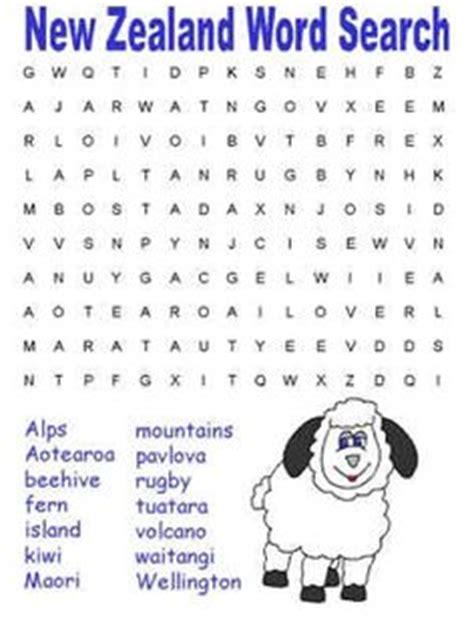 Free Search Nz New Zealand Crossword School Things Worksheets Printable Worksheets