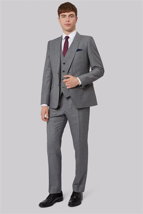 Jaket 2 In 1 Dc Light Gray connection slim fit light grey texture jacket