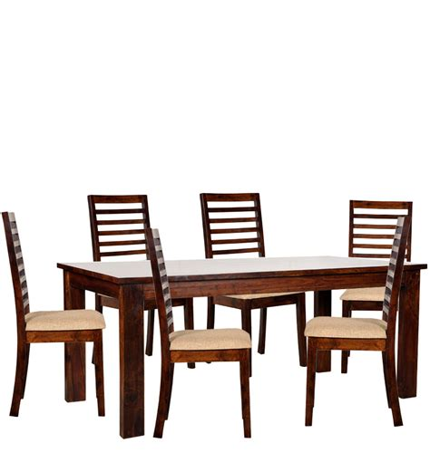 6 Seat Dining Table Set Sao Paulo Six Seater Dining Table Set In Provincial Teak Finish By Woodsworth By Woodsworth