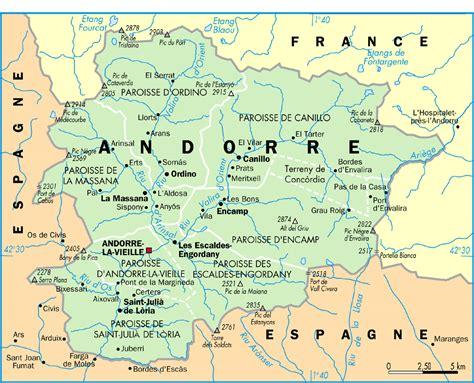 andora map andorra seven parishes 2006 size