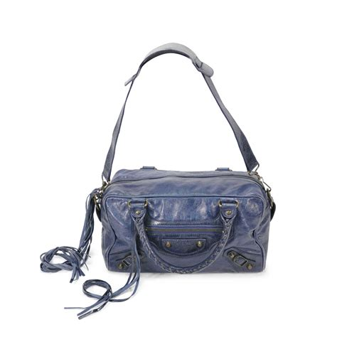 Balenciaga Twiggy by Second Balenciaga Twiggy Bag Blue The Fifth Collection