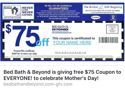 bed bath beyond coupon in store bed bath beyond 75 coupon offer on facebook is a hoax
