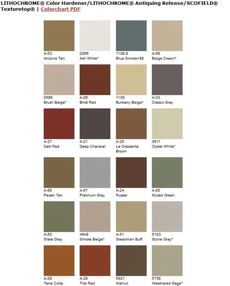 scofield color chart explore twenty four coloring options for sted concrete