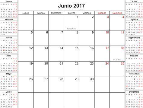 Calendario 2017 Junio Junio 2017 Calendario Calendarios Para Imprimir
