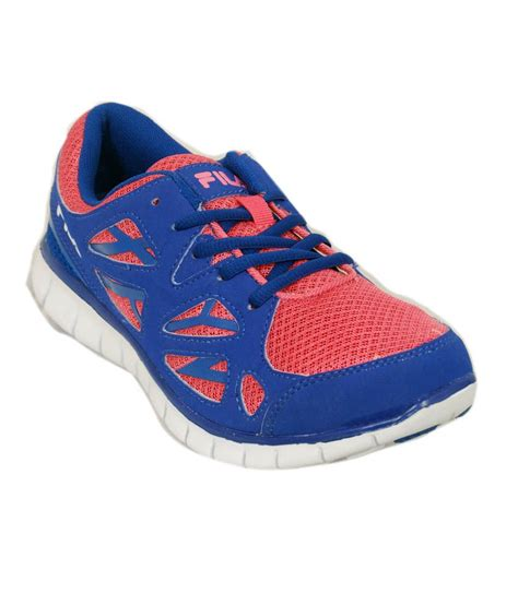 fila serene pink and blue running shoes for price in