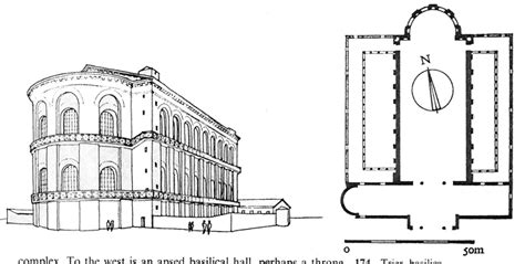 Drawing Floor Plan germany trier aula palatina reconstruction