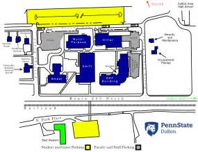 Penn State University Campus Map by Campus Map Penn State Dubois