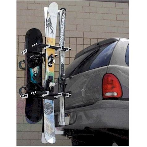 trailer hitch rack for skis snowboards and bikes alpine