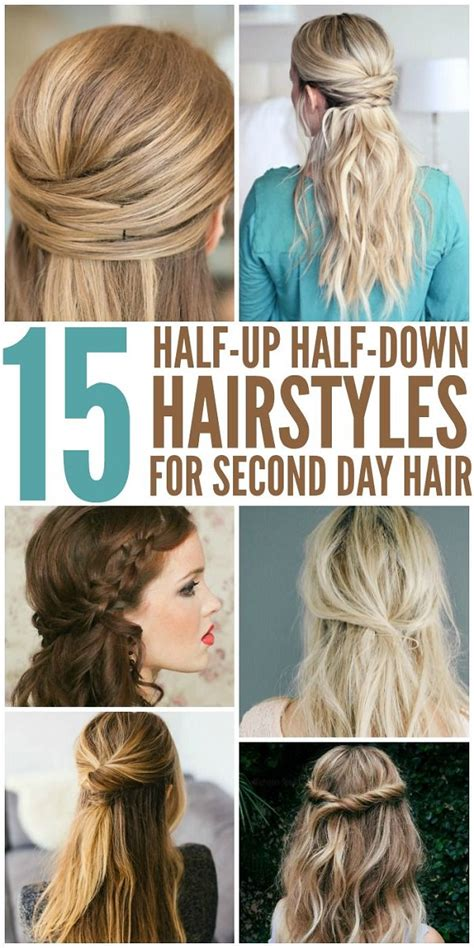 easy hairstyles for just washed hair 15 simple hairstyles that are half up half down fashion