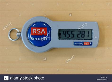 resetting id rsa rsa secure id token fob computer security stock photo