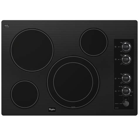 Radiant Glass Cooktop whirlpool 31 inch gold 174 electric ceramic glass cooktop with dual radiant element in black the