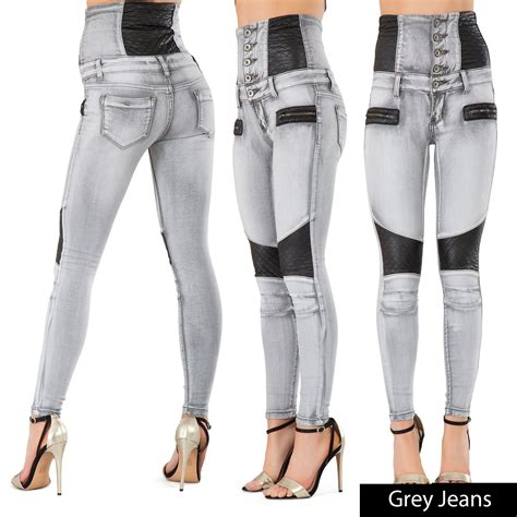 high waist jeans pants new women 7 colour high waist pants skinny fit jeans