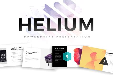 Helium Powerpoint Template Powerpoint Templates Creative Market Powerpoint Presentations Templates