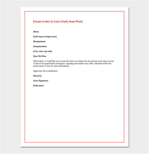 Excuse Letter Missing Work excuses for missing work 20 believable reasons