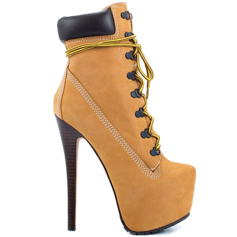 timberland high heel boots gloss
