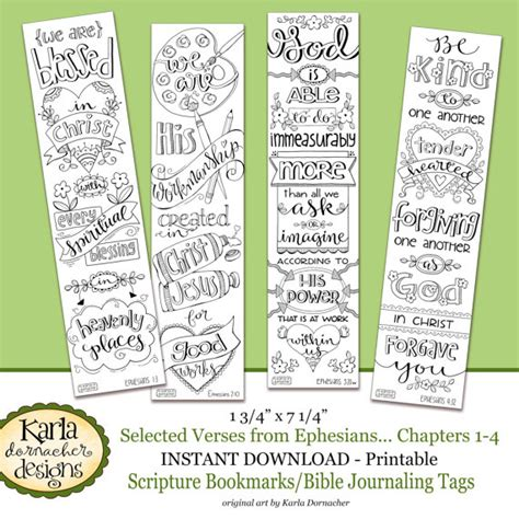 printable scripture bookmarks ephesians 1 4 color your own bookmarks bible journaling