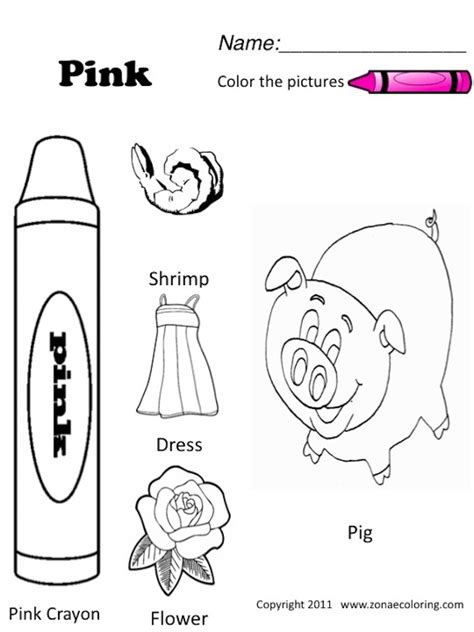 6 best images of the color pink worksheets for
